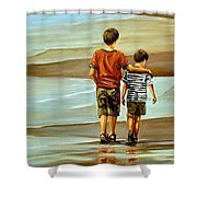 Childhood Shore Shower Curtain