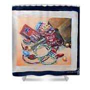 Childhood Treasure Shower Curtain by Saundra Johnson