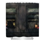 Children - Generations Shower Curtain by Mike Savad
