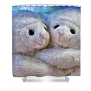 Children - Toys - I Love Ewe Shower Curtain