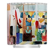 Children At The Greengrocers I Shower Curtain