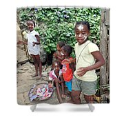 Children Of Madagascar Shower Curtain