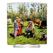 Children Of The Forest Shower Curtain