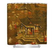 Children Playing In The Palace Garden Shower Curtain
