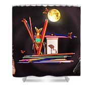 Children Playing With Colours Shower Curtain