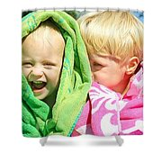 Children Swimming Lessons Shower Curtain