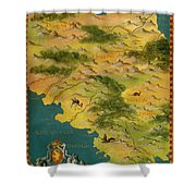 Chile And Argentina With The Magellan Strait Shower Curtain