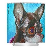Chili Chihuahua Shower Curtain