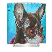 Chili Chihuahua Shower Curtain