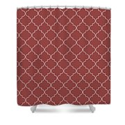 Chili Oil Quatrefoil Shower Curtain