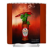 Chili Pepper, Coriander And Peri-peri By Kaye Menner Shower Curtain