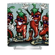 Chili Peppers Gang Shower Curtain