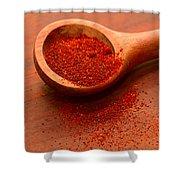 Chili Powder Shower Curtain by Louise Heusinkveld