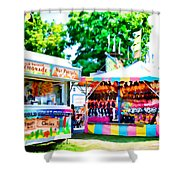 Chillersice Cold Fruit Chillers Shower Curtain