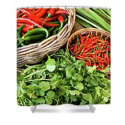 Chillies 07 Shower Curtain