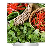 Chillies 08 Shower Curtain