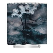 Chilling Blue Lagoon Details Shower Curtain