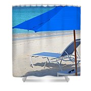 Chilling On The Beach Anguilla Caribbean Shower Curtain
