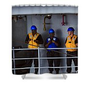 Chilling Sailors Shower Curtain