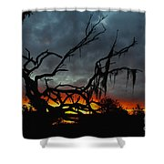 Chilling Sunset Shower Curtain