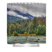 Chillkoot River Hdr Paint Shower Curtain