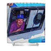 Chiloe Fisherman Shower Curtain
