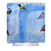 Chimes Of A Waterfall Dream Shower Curtain