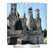 Chimney From Chambord - Loire Shower Curtain