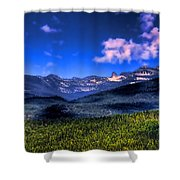 Chimney Rock At Priest Lake Shower Curtain