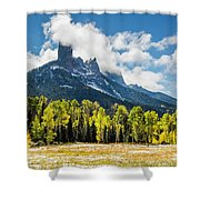 Chimney Rock Autumn Shower Curtain