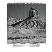 Chimney Rock In Black And White - Towaoc Colorado Shower Curtain
