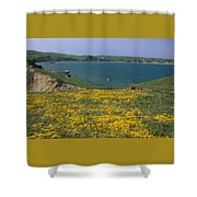 Chimney Rock Trail And Drakes Bay Shower Curtain