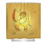 Chimp And Bug Shower Curtain