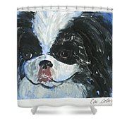 Chin-wow Shower Curtain