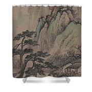 China Ancient Landscape Shower Curtain