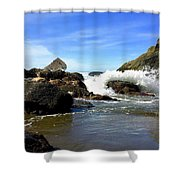 China Beach Shower Curtain