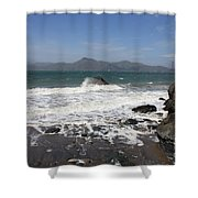 China Beach  Shower Curtain