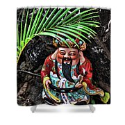 China Boat Gnome Shower Curtain