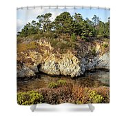 China Cove, Point Lobos Shower Curtain by Yair Karelic