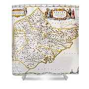 China: Fujian Map, 1662 Shower Curtain