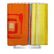 China Gold Shower Curtain