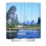 China, Guangxi Province, Guilin Shower Curtain