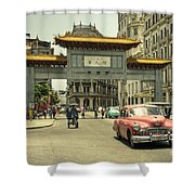 Chinatown Chevy  Shower Curtain