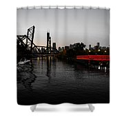 Chinatown Contrast Shower Curtain