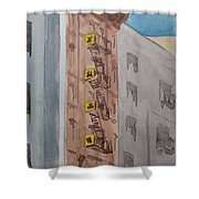 Chinatown Fire Escape Shower Curtain