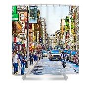 Chinatown In New York City 2 Shower Curtain