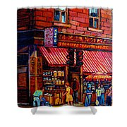 Chinatown Montreal Shower Curtain