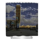 Chinatown Roof Shower Curtain