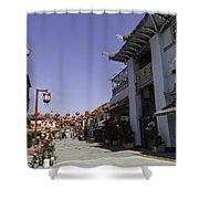 Chinatown Shops Shower Curtain