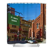 Chinatown View From St. Mary's Square Shower Curtain